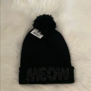 Women's 'MEOW' beanie. Never worn, still has tags!